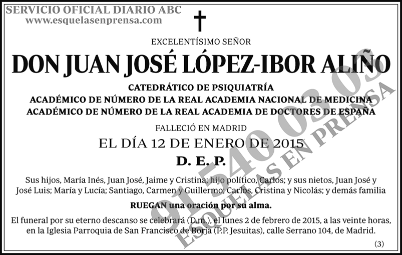 Juan José López-Ibor Aliño